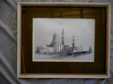 ANTIQUE 1849 DAVID ROBERTS TOMBS OF THE CALIPHS CAIRO PRINT FRAMED ORIENTALIST