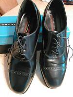 Mens Florsheim Lexington Cap Toe Oxfords Shiny Leather Dress Shoes 12 D Black