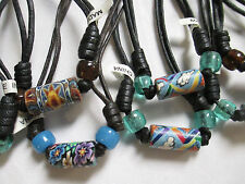 NECKLACES lot of 10 Fimo Bead Chokers WHOLESALE NEW NWT Hippie Black Cord Resale