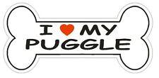 Love My Puggle Bumper Sticker or Helmet Sticker D2517 Dog Bone Decal
