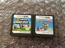 New Super Mario Bros + Yoshi's Island (Nintendo DS LOT) Authentic - Tested