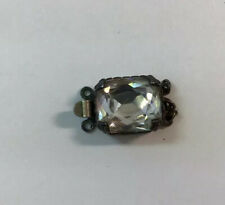 Antique Sterling Silver Rhinestone Clasp For Necklace Or Bracelet