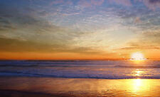 Framed Print - Sun Rising over the Ocean Horizon (Picture Poster Art Sea Beach)