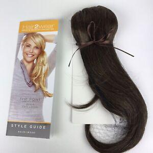 Christie Brinkley Hair 2 Wear The Pony Tail Extensions Dark Medium Brown Auburn