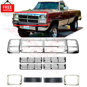 For 1992 1993 DODGE D150 D250  Grille Headlamp Door Signal Lamp Assembly 9pc