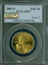 2001-P SACAGAWEA DOLLAR PCGS MS-67 PQ MAC SPOTLESS *