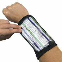 "Quarterback Playbook Insert Wristband, 6.5"" Large"