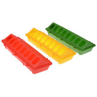 Plastic Flip-Top Poultry Feeder Trough Feeding Chicken Animal Farming Tool B36A