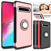 For Samsung Galaxy S10 5G Case Shockproof Ring Holder Rugged Hybrid Armor Cover