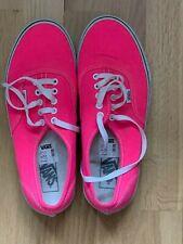 Vans Authentic Bright Pink Canvas Shoes Trainers Size UK9/EU43/US10 RRP £55.00