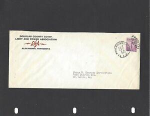 1941 DOUGLAS CNTY C0-OP,LIGHT & POWER ASSN,ALEXANDRIA,MN ADVERTISING COVER