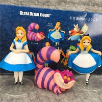 1 Box of 3 Disney Alice in Wonderland Figures Figurines Toy Ornament Decor 10cm