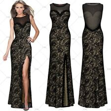 Women's Maxi Evening Party Ball Gown Bridesmaids Cocktail Party Long Lace Dress