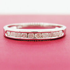 Real Genuine Natural Diamond Solid 9ct White Gold Engagement Wedding Ring Band