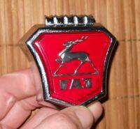 Volga GAZ Radiator Grill Emblem Badge Hood Ornament USSR Car Metal Chrome Origin