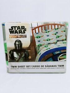 Star Wars Baby Yoda Bed Sheet Set 3 Piece Twin Kids Teens Mandalorian Print Gift