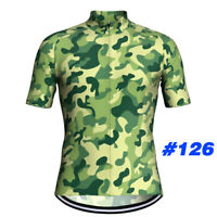 Men Cycling Jersey Bib Short Set Bicycle Bike Motocross MTB Shirt camo Clothing