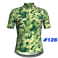 Men Cycling Jersey Bib Short Set Bicycle Bike Motocross MTB Shirt camo Clothing