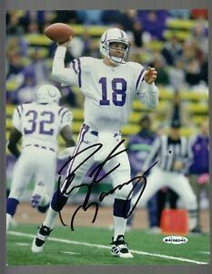Peyton Manning Signed Autographed Colts 8x10 Photo W/ UDA BAI00340 Authentic