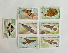 GUINEA BISSAU  SET of 7 TROPICAL FISH   ISSUED 1983    Sc#498-504  SEE PIC