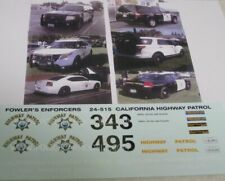 Fowlers 1/24 Police Decals 24515 CHP California Highway Patrol