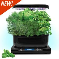 Miracle-Gro AeroGarden Harvest with Pizza Herb 6-Pod Kit, Black New