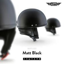 MOTO D22 BRAINCAP + JET-HELM Motorrad-HELM Roller Mofa Retro Vespa Bobber