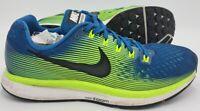 Nike Air Zoom Pegasus 34 Trainers 880555-400 Industrial Blue/Volt UK8/US9/EU42.5