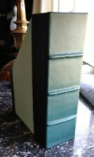 Leather covered file/document/magazine holder. LOT OF 4