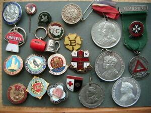 Enamel badge & medallion lot WW2 home front , bowling , RSPCA , ROSPA etc.
