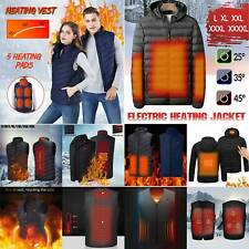 Winter Electric Vest Heated Cloth Jacket USB Warm Up Heating Pad Body Hooded Top