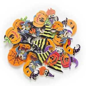 30pcs Halloween theme Wood Button for Sewing Clothing Scrapbook Gift Craft Decor