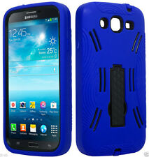 eBlue/Black Dual Hybrid Kickstand Samsung Galaxy Mega 5.8 GT-I9152/I9150 Case