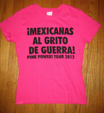 BREAST CANCER AWARENESS, Pink Power Tour - Latinas Unite - Small T-Shirt - NEW