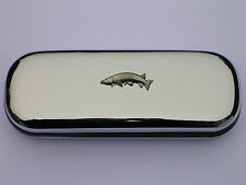 Pike  Fish fishing brand new chrome glasses case great gift for dad fathers day