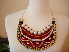 ANTHROPOLOGIE Statement stella Bead Bib Necklace J.o.i.n The Chic Crew! DOT