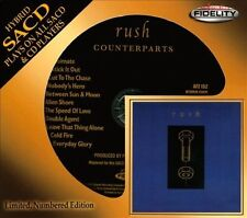 SEALED AUDIO FIDELITY CD / SACD - RUSH - COUNTERPARTS LIMITED EDITION # 0134