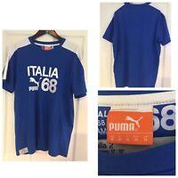 Puma Italia 1968 Campioni Mens Size Medium M Short Sleeve Shirt (615)