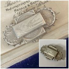Antique Victorian Jewellery Sterling Silver Engraved Bird Brooch Pin