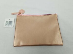 Brand New Maybelline Essie Rose Gold Cosmetic Zip Pouch Bag