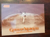 2019 Topps Stadium Club #260 GERMAN MARQUEZ COLORADO ROCKIES ORANGE SEPIA