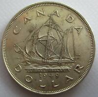 CANADA 1949 NEWFOUNDLAND EXTRA FINE SILVER DOLLAR COIN - C