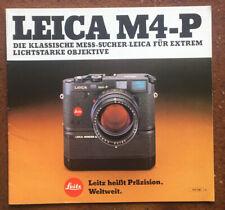 Leica M-4-P  - Prospekt von XI/82, 24 Seiten
