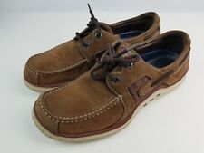 Clarks Brown leather Boat/Dock Sneakers Men's Size 10 M preowned