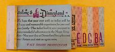 1967 vtg Disneyland Junior ticket coupon book booklet old  W/ E & Lincoln-RARE