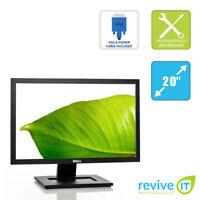 """Dell E2011H 20"""" Widescreen 1600x900 LED Backlit LCD Monitor VGA DVI Grade B"""