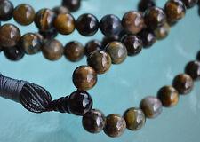 Black Tiger Eye & Onyx Handmade Solar Plexus Chakra Mala Beads Necklace - To Cor