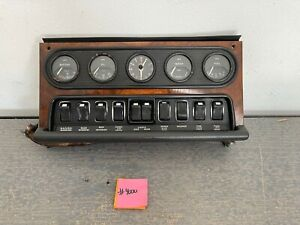 Jaguar XJ6 Series 1 OEM Dash Switch Panel Instrument Gauge Cluster From a 1972