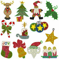 * CHRISTMAS 1 * Machine Applique Embroidery Patterns  *12 Designs