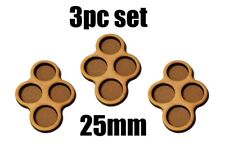 Game Movement Tray 4 pc Trays 25mm base for Warhammer  40k Age of Sigmar 3pc set